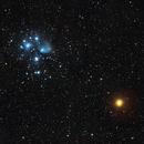 Pleiades and Mars,                                falke2000