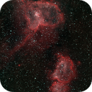 The Heart and Soul Nebulae in H-alpha and O-III,                                Kevin Dixon