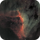 Pelican Nebula, in synthetic RGB,                                Frank Kane