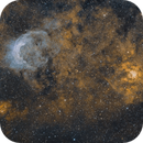 The cow jumped over the moon? NGC3247 (Whirling Dervish) and NGC3199 (Banana) nebulae,                                robonrome