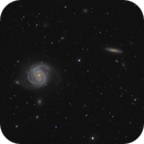 M100 amongs many galaxies,                                Olly Penrice