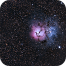 Trifid Nebula M20 6/7/2014 Reprocess,                                Tom Masterson