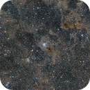 NGC7023 wide field  + Iris & SH2-136 in high resolution,                                Martin Dufour