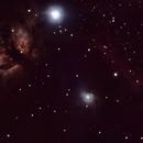 Flame Nebula and Horsehead Nebula,                                Scot Smith