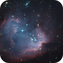 Open cluster NGC 602 and nebula N90 - A mapped color Hubble Telescope image,                                Dean Jacobsen