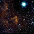"IC 63, Gamma Cassiopeiae ""Ghost"" Nebula, HO Bicolor, 1 & 14 Nov 2017, David Dearden"