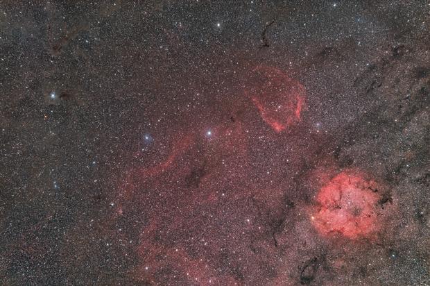 IRIS & IC1396,                                Philippe BERNHARD