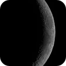 Waxing crescent moon High res mosaic Apr 26th 2020,                                Wouter D'hoye