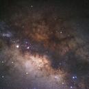 Galactic Center of Milky Way & Saturn,                                William Tan