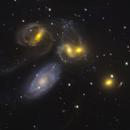Stephan's Quintet - a mapped color Hubble Telescope mosaic,                                Dean Jacobsen