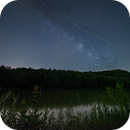 Firefly crossing the milky way,                    Markus A. R. Lang...
