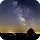 OHP Observatoire Haute Provence and the milkyway,                                Yves-André