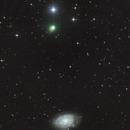 Comet C/2013 US10 Catalina and NGC 7793 (color),                                José J. Chambó