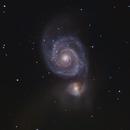 M51 with C9.25 and QHY268C,                                JuanmaRivero