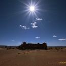 Sun above Sahara Sky Hotel,                                Astro-Rudi