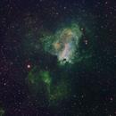 Swan Nebula (M17)  Narrowband HP,                                TasosK