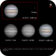 Jupiter 10 April 2019 with Europa; and in CH4, IR and white light,                                LacailleOz