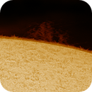 Solar chromosphere and prominence 20201018,                                Sergio Alessandrelli
