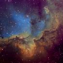 The Wizard Nebula, NGC 7380 Hubble palette,                                Eric Coles (coles44)