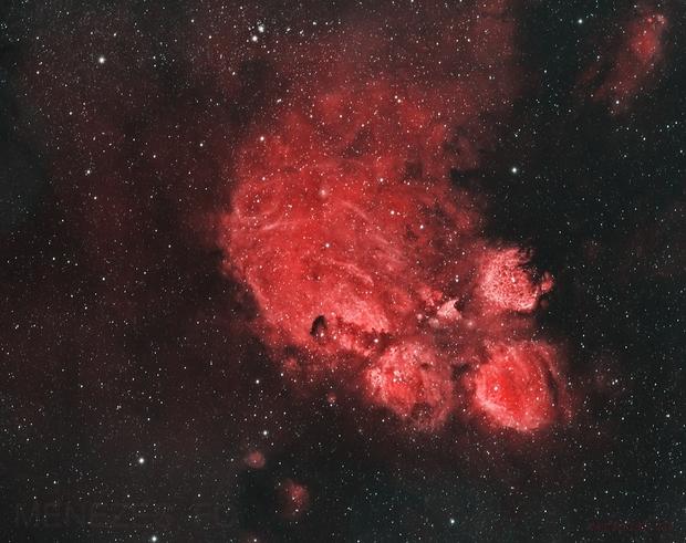NGC 6334 (also known as the Cat's Paw Nebula, Bear Claw Nebula, or Gum 64),                                Fernando Oliveira de Menezes