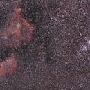 Les nébuleuses du Coeur,  de l'Âme et le double amas en grand champ au 135mm (Heart, Soul,  and Double Cluster wide field),                                Laurent3112