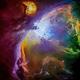 Messier 42 in Hubble Palette,                                andrealuna