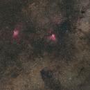 Messier 16 and 17,                                Jörg Möllmann
