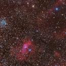 M52, Burbuja y NGC7538,                                Fernando Huet
