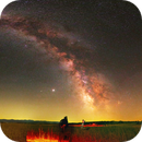 Panoramic image of the Neowise comet and the Milky Way Ark,                                Benjamin Lefevre