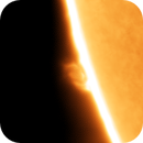 Prominence in H-Alpha,                                nonsens2