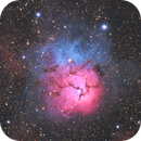 M20 - lovely Trifid Nebula from Central Europe with DSLR,                                Michael S.
