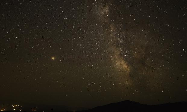 Mars and Milky Way over Almo Idaho,                                Gary Leavitt