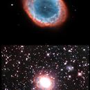 M57 - details and gas halo,                                László Szeri