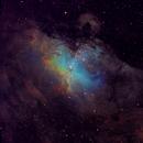 M16 Eagle in narrowband SHO - data from u/dreamsplease on reddit,                                HomerPepsi