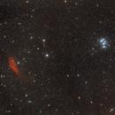 NGC1499 & M45 California & Pleiades wide field / Canon 100Da+Canon 50mm f/1.4 / SW star mini / 800iso,                                patrick cartou