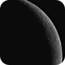 10% waxing moon, Celestron C8, #25 red filter, Altair 183M,                                turfpit