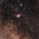 Lagoon nebula,                                Klape