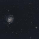 M101 the PinWheel galaxy and little friend,                                Christiaan Berger