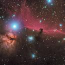 Horsehead and Flame Nebulas,                                Lee Morgan