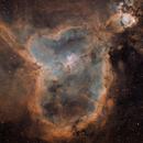 Heart Nebula and the Small Planetary Nebula PN G135.6+1.0 (SHO),                                Ruben Barbosa