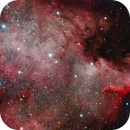 NGC7000 from Red Zone with unmodded DSLR,                                Lin Chang