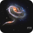 Arp 273   -   Two interacting galaxies - Hubble ST,                                Rudy Pohl