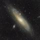 M31 Andromeda Galaxy (280mm),                                star-watcher.ch