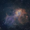 SH2-132  Lion Nebula SHO Palette,                                John Massey