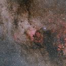 NGC 7000 region in Cygnus,                                Nurinniska