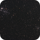 NGC457 & NGC436-LRGB-The Owl Cluster in Cassiopeia,                                LazyLightning