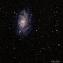 M33 with 300 mm telephoto + 1.4x teleconverter,                                Roger Clark