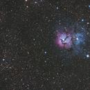 Trifid Nebula M20 6/7/2014 Reprocessed 3/18/2015,                                Tom Masterson