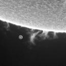 Big prominence 06_03_2021-earth to scale-,                                Boštjan Zagradišnik