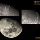 Moon - craters mosaic,                                Carlos Alberto Palhares - OBSERVATÓRIO ZÊNITE